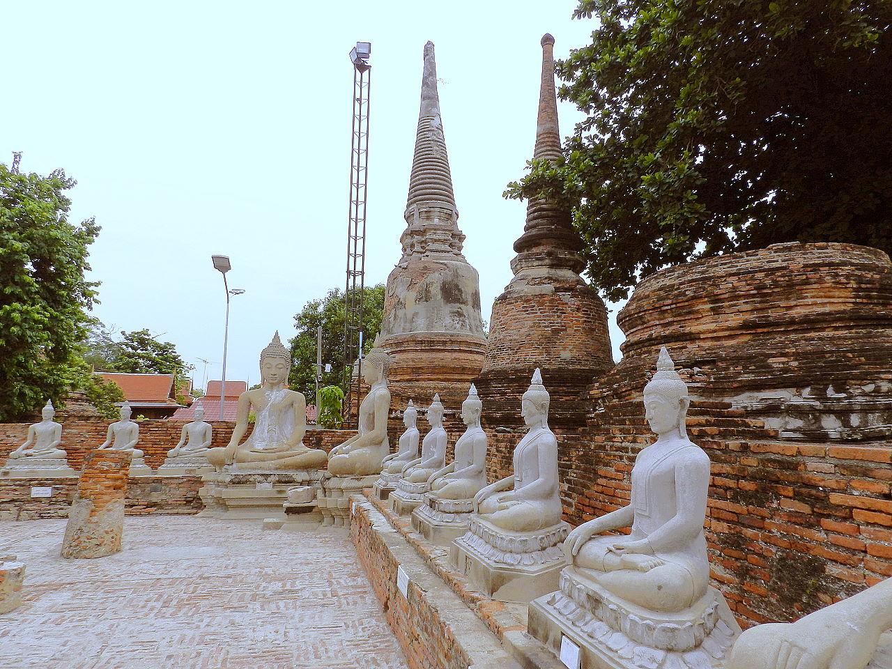 Thailand Bilder - Wat Yai Chai Mongkhon in Ayutthaya