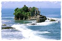 Tempel Tanah Lot bei rauher See