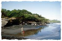 Strand bei Tanah Lot