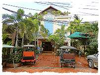 Hotel in Siem Reap direkt am Fluss
