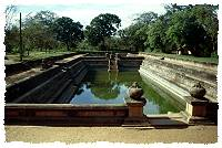 Ein altes Wasserbecken in Anuradhapura